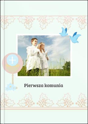 Szablon fotoksiążki Pierwsza Komunia - Uwolnijkolory.pl