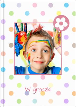 Szablon fotoksiążki W Groszki - Uwolnijkolory.pl