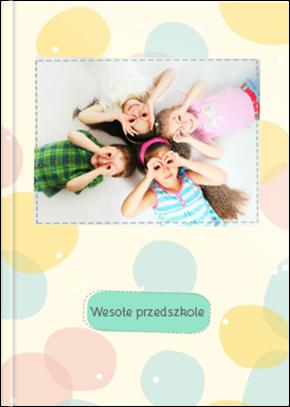 Szablon fotoksiążki Wesołe przedszkole - Uwolnijkolory.pl