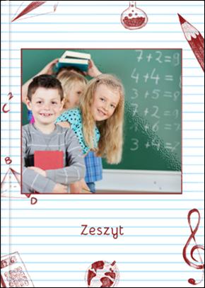 Szablon fotoksiążki Zeszyt - Uwolnijkolory.pl