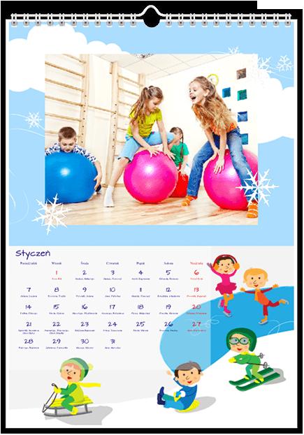 Szablon fotokalendarza Dziecięce Zabawy - Uwolnijkolory.pl