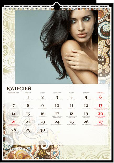 Szablon fotokalendarza Floral - Uwolnijkolory.pl