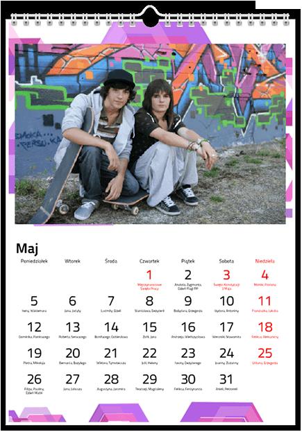 Szablon fotokalendarz - Uwolnijkolory.pl
