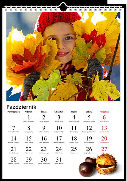 Szablon fotokalendarza Tematyczny - Uwolnijkolory.pl