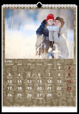 Szablon fotokalendarza ABC - Uwolnijkolory.pl