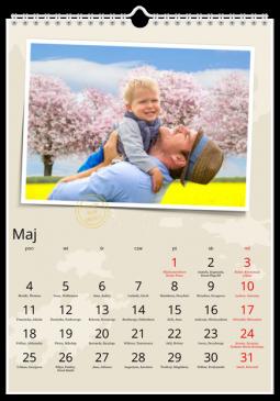 Szablon fotokalendarza Adventure - Uwolnijkolory.pl