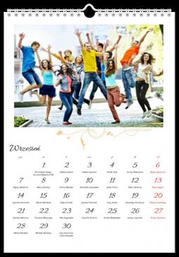 Szablon fotokalendarza Arabeska - Uwolnijkolory.pl