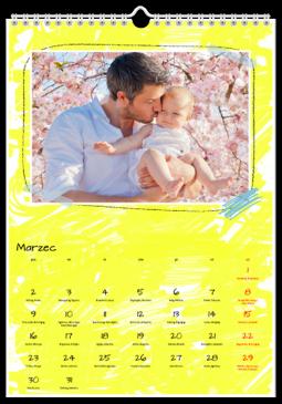 Szablon fotokalendarza Be Yourself - Uwolnijkolory.pl