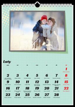 Szablon fotokalendarza Boombastic - Uwolnijkolory.pl