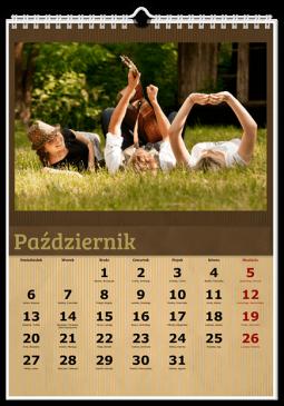 Szablon fotokalendarz Brązowy - Uwolnijkolory.pl