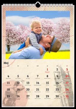 Szablon fotokalendarza City - Uwolnijkolory.pl