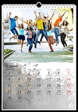 Szablon fotokalendarza Dekoracyjny - Uwolnijkolory.pl