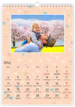 Szablon fotokalendarza Forever in Love - Uwolnijkolory.pl