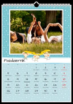 Szablon fotokalendarza Jak pies z kotem - Uwolnijkolory.pl