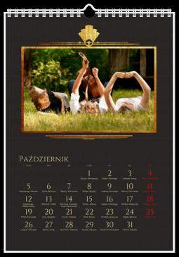 Szablon fotokalendarza Karnawałowy - Uwolnijkolory.pl