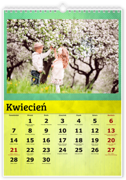 Szablon fotokalendarza Kolorowy - Uwolnijkolory.pl
