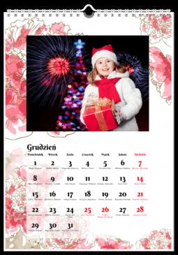 Szablon fotokalendarza Kwiaty - Uwolnijkolory.pl