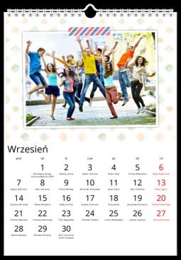 Szablon fotokalendarza List - Uwolnijkolory.pl