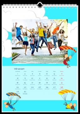 Szablon fotokalendarza Malowane podróże - Uwolnijkolory.pl