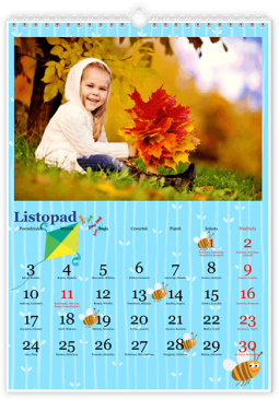 Szablon fotokalendarza Maluch niebieski - Uwolnijkolory.pl