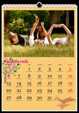 Szablon fotokalendarza Maluch różowy - Uwolnijkolory.pl