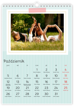 Szablon fotokalendarza Miętowy - Uwolnijkolory.pl