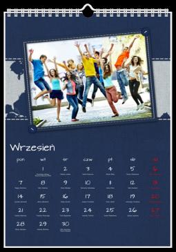 Szablon fotokalendarza Morskie opowieści - Uwolnijkolory.pl