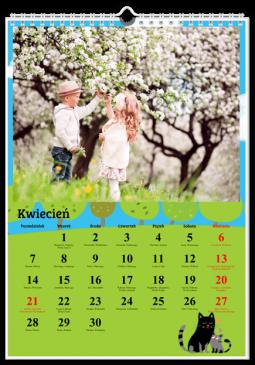 Szablon fotokalendarza Na łące - Uwolnijkolory.pl