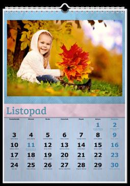 Szablon fotokalendarza Niebieski - Uwolnijkolory.pl