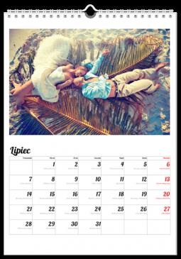 Szablon fotokalendarza Notatnik - Uwolnijkolory.pl