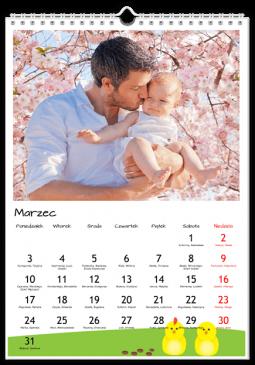 Szablon fotokalendarza Okrąglusie - Uwolnijkolory.pl