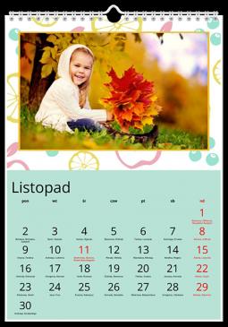 Szablon fotokalendarza Owocowy - Uwolnijkolory.pl