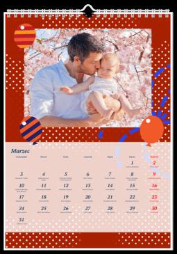 Szablon fotokalendarza Party - Uwolnijkolory.pl
