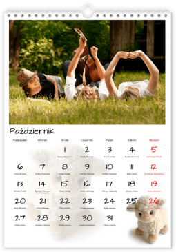 Szablon fotokalendarza Pluszaki - Uwolnijkolory.pl