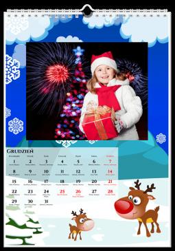 Szablon fotokalendarza Potworki - Uwolnijkolory.pl