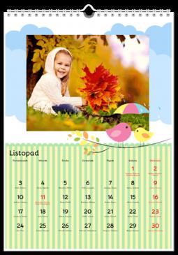 Szablon fotokalendarza Ptasie radio - Uwolnijkolory.pl