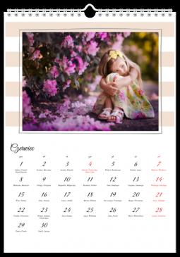 Szablon fotokalendarza Skarb - Uwolnijkolory.pl