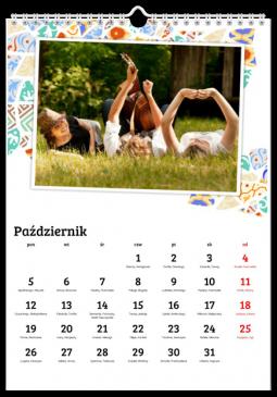 Szablon fotokalendarza Słoneczna mozaika - Uwolnijkolory.pl