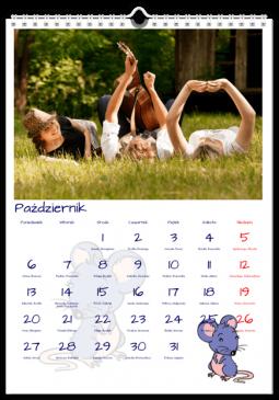 Szablon fotokalendarza Świat zwierząt - Uwolnijkolory.pl
