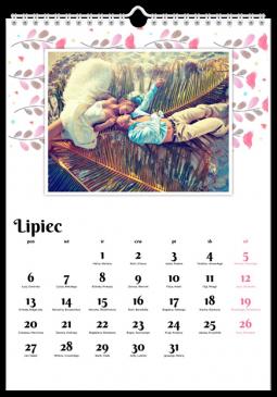 Szablon fotokalendarza Tęczowy folk - Uwolnijkolory.pl