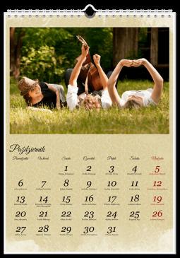 Szablon fotokalendarza Vintage - Uwolnijkolory.pl