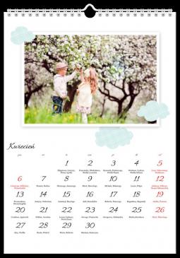 Szablon fotokalendarza Wycinanka - Uwolnijkolory.pl