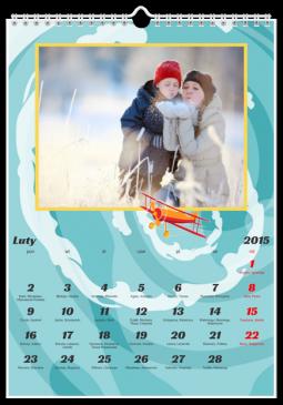 Szablon fotokalendarza Wyścigowe szaleństwa - Uwolnijkolory.pl