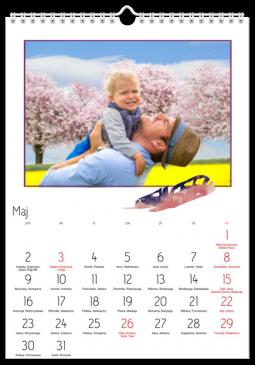 Szablon fotokalendarza Z lotu ptaka - Uwolnijkolory.pl
