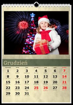 Szablon fotokalendarza Zielony - Uwolnijkolory.pl