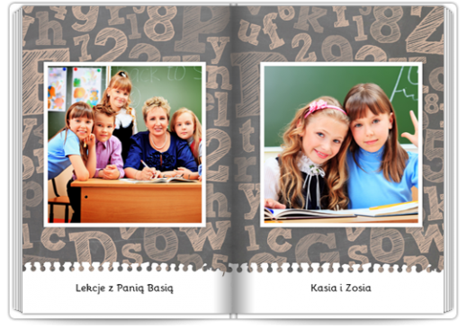 Szablon fotoksiążki ABC - Uwolnijkolory.pl